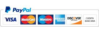 Pago seguro tarjeta con Paypal