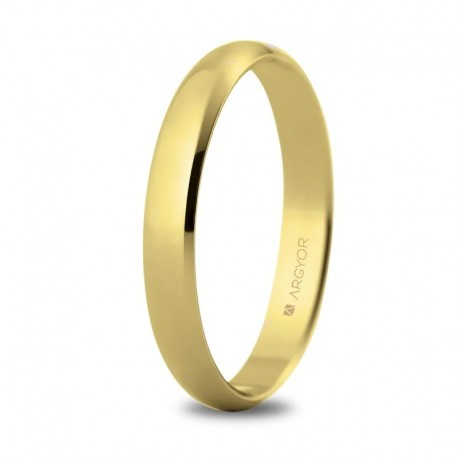 Alianza Argyor clásica de 3mm en oro amarillo 50302-50305