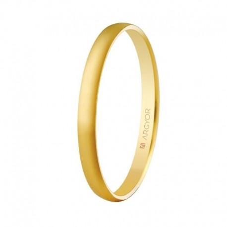 Alianza Argyor clásica de 2x0,8mm oro amarillo 50201