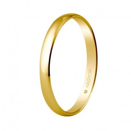 Alianza Argyor clásica de 2,5x1,0mm oro amarillo 50253