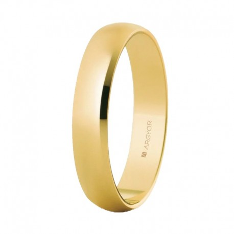 Alianza Argyor clásica de 4mm oro amarillo 50403-50405-5640001
