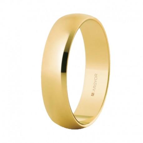 Alianza Argyor clásica oro amarillo de 5mm 50505