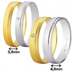 Alianza Argyor gota oro amarillo o blanco de 3,5 o 4,5mm ref. 5135473/5B35473/5145473/5B45473 texturizada
