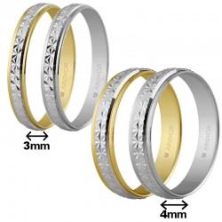 Alianza Argyor oro lapidado efecto piedra ancho 3 o 4mm ref-108. Entrega 24/48h