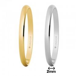 Alianza Argyor oro clásica ancho 2mm grosor 0,8mm ref-201. Entrega 24/48h