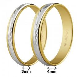 Alianza Argyor oro bicolor lapidado espiga en 3 o 4mm 5230283 5240283