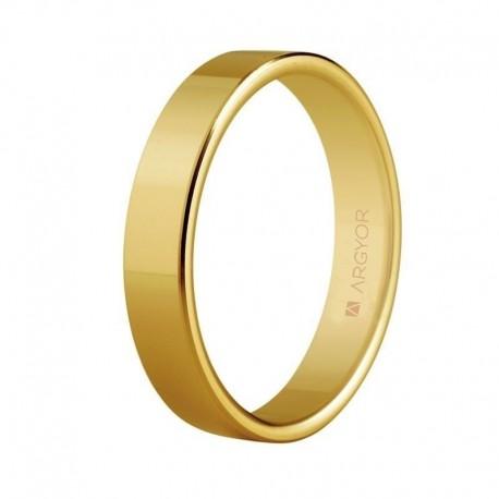 Alianza Argyor oro amarillo plana ancho 4mm 5140150
