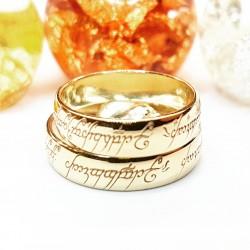 Alianzas redondeadas y con interior confort en oro amarillo del señor de los anillos, opcion oro rosa o blanco o plata