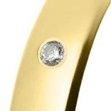 Alianza de oro amarillo brillo con un brillante talla diamante de 0,01ct (Ø 1,3mm)