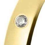 Alianza de oro amarillo brillo con un brillante talla diamante de 0,02ct (Ø 1,7mm)